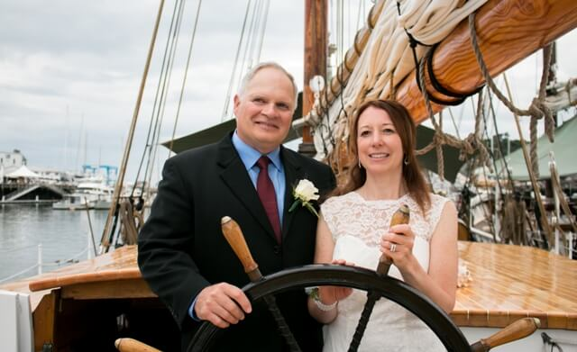 Maine Windjammer Cruises Wedding Couple