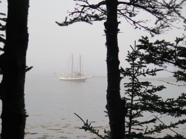 Maine Windjammer Cruises Schooner Mercantile in Fog
