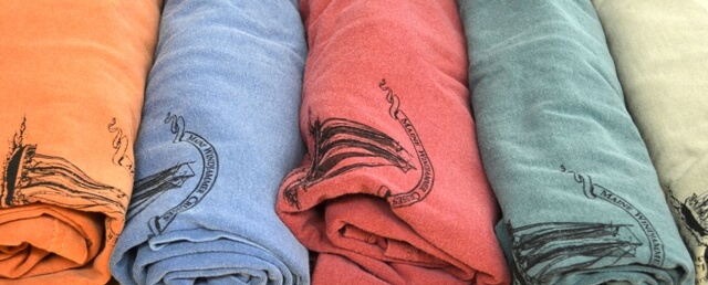 Maine Windjammer Cruises - Comfort t-shirt colors