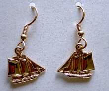 Maine Windjammer Cruises - 14K gold earrings