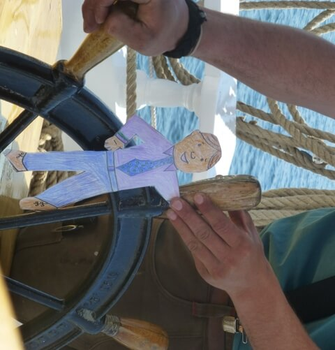 Flat Stanley at the Helm