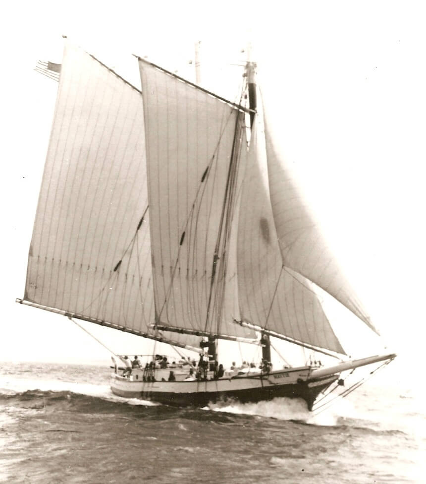 Schooner Mattie under sail