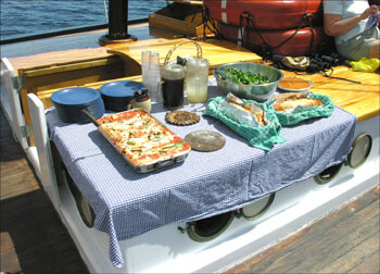 Windjammer Cruise Lunch on Deck