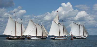 Schooner Grace Bailey out in front, Great Schooner Race