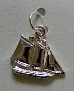 Maine Windjammer Cruises - Sterling Silver charm