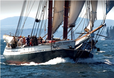 Maine Windjammer Cruises flagship Schooner Grace Bailey