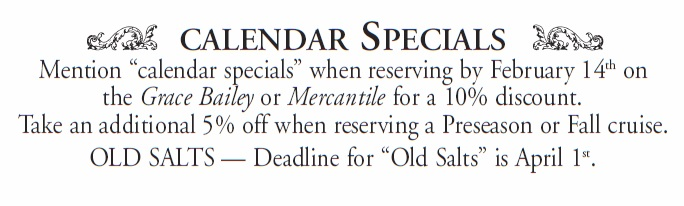 Calendar Specials Maine Windjammer Cruises
