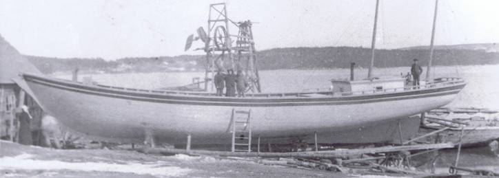 Schooner Mercantile being built