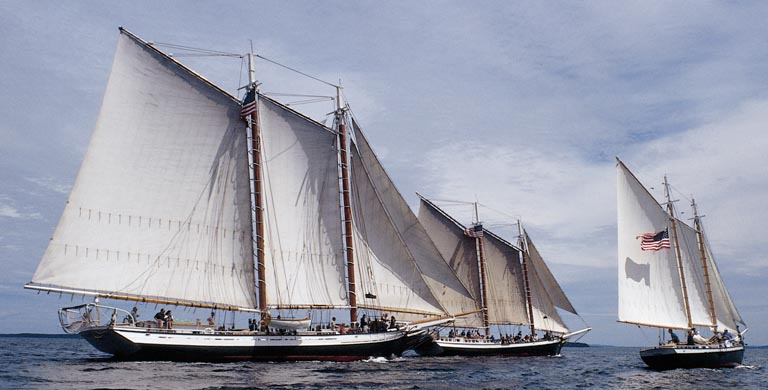 Maine Windjammer Cruises Schooners, Grace Bailey, Mercantile and Mistress