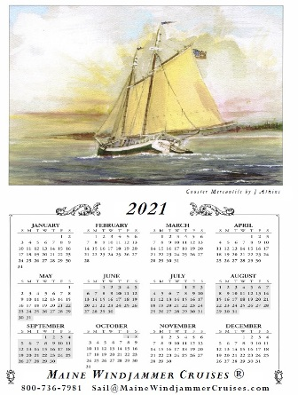 Maine Windjammer Cruises annual Calendar