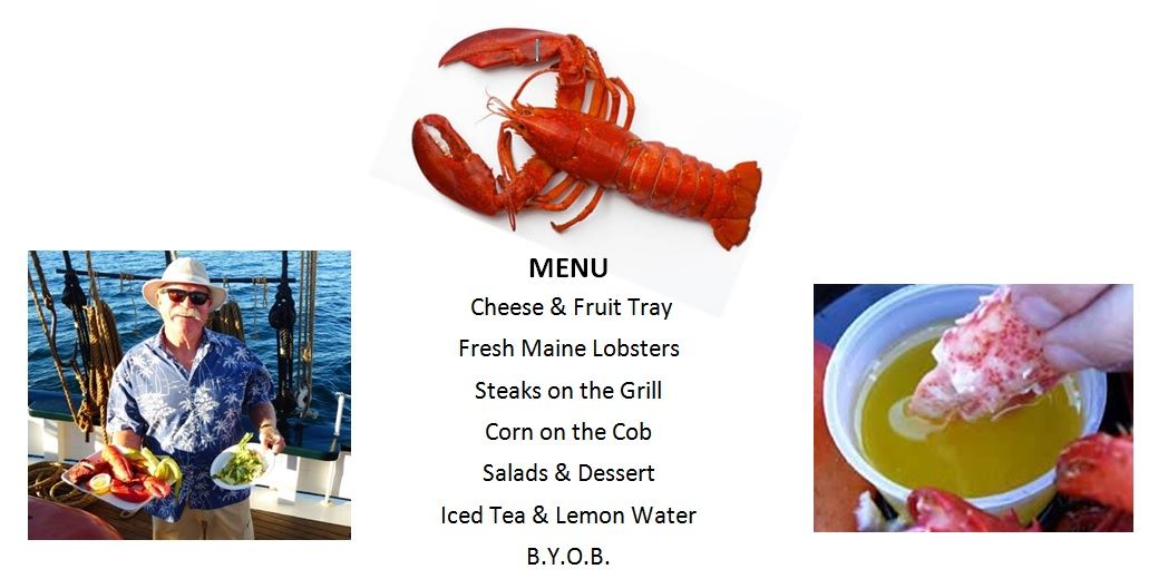 Lobster dinner menu